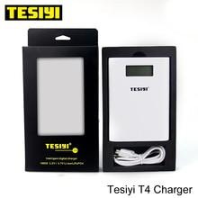 tesiyi T4 18650 батарея Зарядное устройство Мощность банк tesiyi T4 Смарт Цифровое зарядное устройство извилистый е сигалреты для 3,7 v 18650 литиевая батарея
