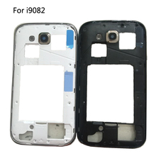 New Middle Frame Bezel Backplate Housing Case Cover Replacement Parts For Samsung Galaxy Grand Duos GT-i9082 i9082 White Black