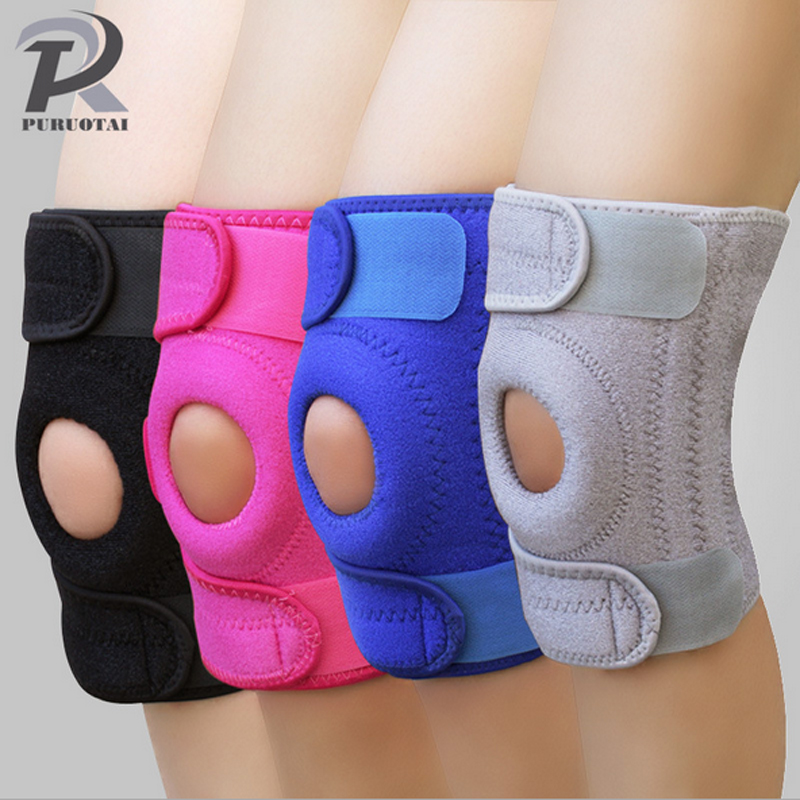 1PCS Adjustable Sports Training Elastic Knee Support Brace Kneepad Adjustable Patella Knee Pads Hole Kneepad Safety