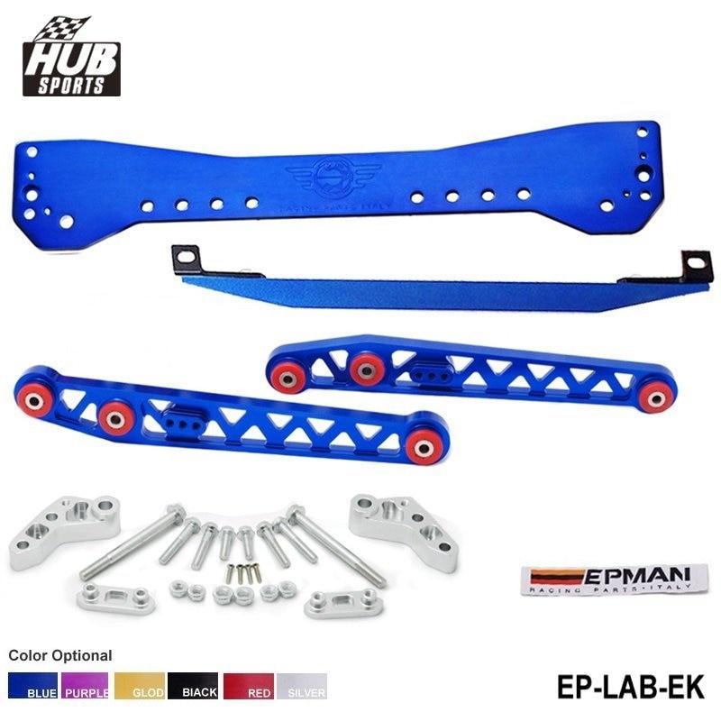 цена на Subrame Bar+Lower Tie Bar+Rear Lower Control Arm For Honda Civic EK 96-00 HU-LAB-EK