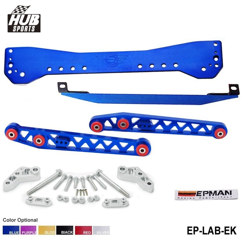Subrame Bar+Lower Tie Bar+Rear Lower Control Arm For Honda Civic EK 96-00 HU-LAB-EK