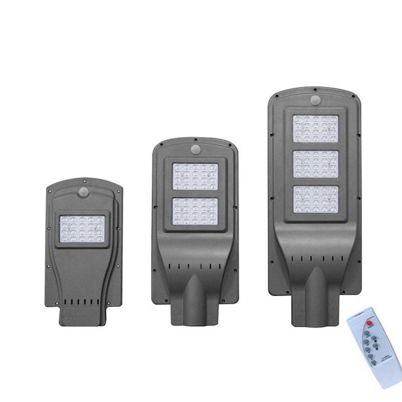 10PCS 20W 40W 60W LED Integrated Luminaria Solar Lights For Garden Powerful Outdoor Waterproof Street Light Radar Motion Sensor in Solar Lamps from Lights Lighting