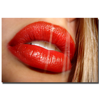 Pop Art Idea Wall Canvas Women Lips Painting Abstract Living Room Decoration Artwork Lady Lips Art