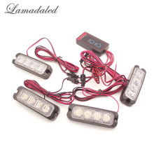 Lamadaled DC12V red blue amber high bight 48w police vehicle 4x4 led Strobe Lights car grille lights auto surface warning lamp