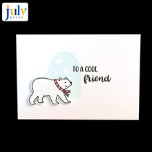 Julyarts Clear Stamp and Die Sets Scrapbooking Cutting Dies Christmas Animal Tree DIY Decoration Paper Crafts