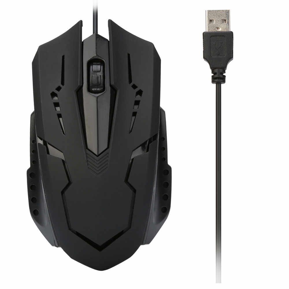 Professional Wired Mouse Gamer Recarregavel For PC Laptop 1200 DPI USB Wired Optical Gaming Mice Mouses 2018