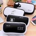 1 шт.  Корейская креативная кавайная Сумка-карандаш  канцелярская сумка-Органайзер из искусственной кожи для хранения  школьная сумка  Студе...