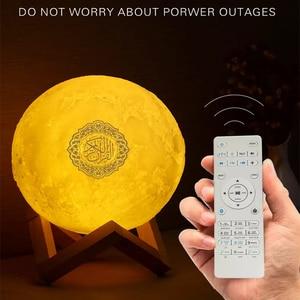 Image 2 - Quran LED Night Light Wireless quran Bluetooth Speakers Colorful Moon Muslim Speaker Koran With Remote Control