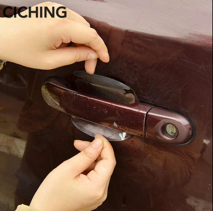 2018 جديد مقبض باب السيارة حماية ملصقات لكيا ريو K2 سبورتاج الروح مازدا 3 6 CX-5 لادا سكودا اوكتافيا A5 A7 اكسسوارات