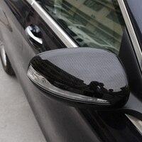 2PCS Rearview Mirror Carbon Fiber Decorative Cover For Mercedes C Class W205 S Class W222 E