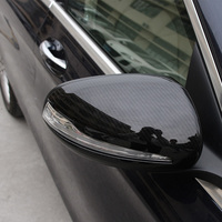 2PCS Rearview mirror Carbon fiber decorative cover for Mercedes C Class W205