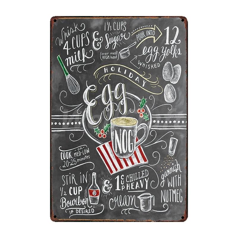 [WellCraft] кофе Коктейль любовь торт чай жестяная вывеска настенные таблички на заказ металлическая живопись античный подарок Бар Паб Декор LT-1704 - Цвет: SA-2638