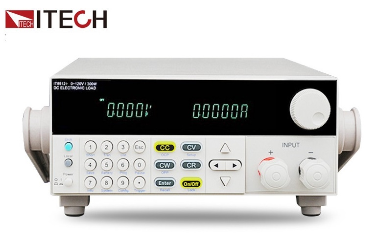 ITECH IT8512+ DC Programmable Electronic Load 120V 30A 300W 1mV 0.1mA