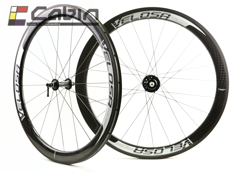 Velosa Super Sprint 50 track bike carbon wheels,700C fixed gear carbon wheelset