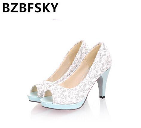 High quality 2016 new Open Toe High Heels Women Pumps Brand new shoes women sandals wedding pumps size 34-42