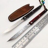 Шведский порошок Дамаск Сталь складной Ножи деревянной ручкой M390 карманные ножи Sharp высокой твердости открытый мини Портативный EDC инструм...