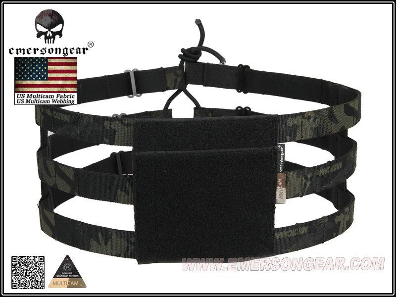 Emerson Tactical 3-Band Lightweight Lite Cummerbund Multicam MCBK MCTP MOLLE Skeletal Cummerbund for AVS JPC Vest Plate Carrier