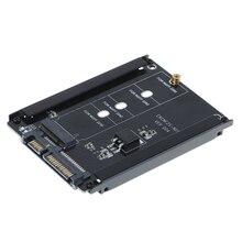 שחור מתכת מקרה CY B + M שקע 2 M.2 NGFF (SATA) SSD כדי 2.5 SATA מתאם עבור 2230/2242/2260/2280mm m2 מצב מוצק דיסק