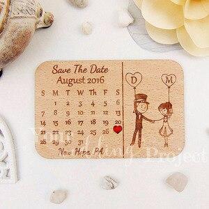 Image 1 - 사용자 정의 날짜 저장 나무 자석, 웨딩 우드 호의, 손님을위한 새겨진 나무 웨딩 선물 웨딩 기념품 장식