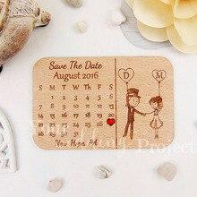 ที่กำหนดเองบันทึกวันที่ไม้แม่เหล็ก, ไม้แต่งงาน Favors, แกะสลักงานแต่งงานของขวัญสำหรับผู้เข้าพักงานแต่งงานของที่ระลึกตกแต่ง
