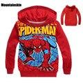 2017 Spiderman Meninos Hoodies Moda Primavera Impressão Dos Desenhos Animados das Camisolas Dos Miúdos 2-9Y Crianças Outerwear Meninos de Algodão Com Capuz Tops SC744