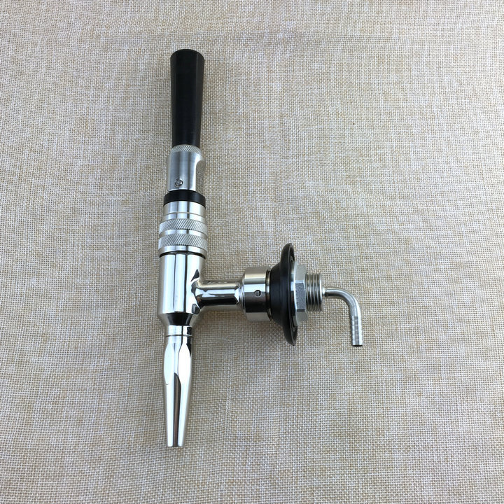 New Arrival 304 Stainless Steel Stout Beer Faucet,coffee tap Draft Beer Dispensing Nitrogen Nitro Tap
