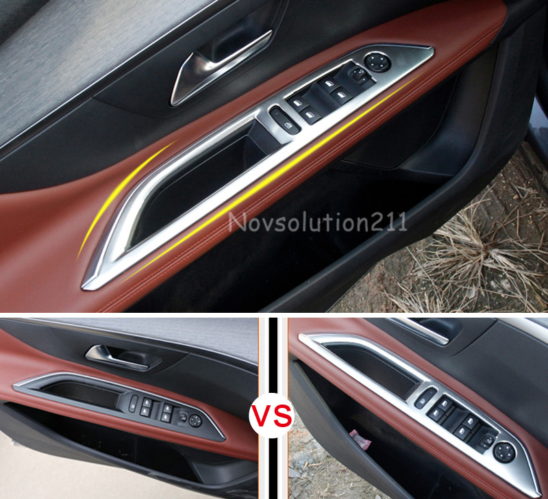 4pcs / set 푸조 3008 GT 2016 2017 2018 왼손 드라이브에 대 - 자동차 인테리어 용 액세서리 - 사진 1