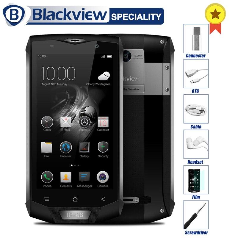 Blackview BV8000 Pro IP68 Étanche Smartphone 6g RAM 64g ROM 5.0 pouce MT6757 Octa Core 1920*1080 16.0MP 4g LTE Mobile Téléphone