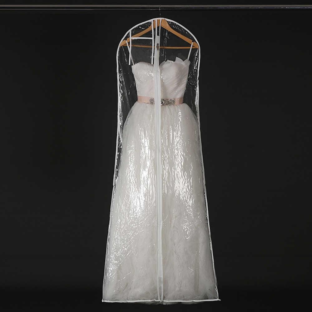 Прозрачный/белый большой одежды свадебное платье длинное чехол для одежды чехол для свадебного платья Пылезащитная Крышка для сохранения сумки