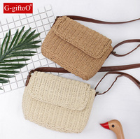 2017 Summer Cool Candy Color Shoulder Bag Hand Made Exquisiteness Straw Bags Mini Woven Flap Sweet
