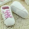 0-24 M Zapatos de Bebé Del Niño Recién Nacido Bebé Niños Niño Niña Unisex Prewalker Suave Suela PU de Cuero 4 Tamaños alta Calidad