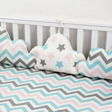 Clouds Shape Bumpers For Baby Crib Bedding Set 3 Pcs Linked Pillows In Bed Room Decor Newborns Cot Protector
