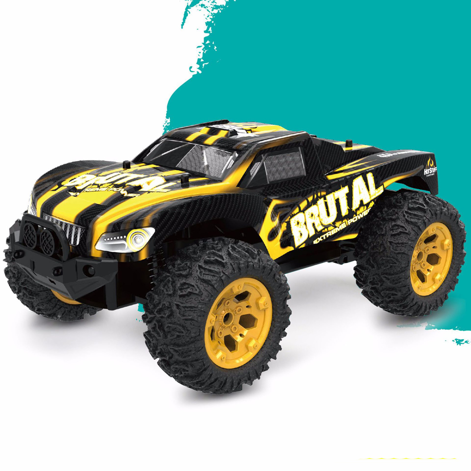 2.4G 4WD RC Rock Driving Crawlers Remote Control Car Double Motors Drive Bigfoot Car Model Off-Road Vehicle Toy RC Car Model