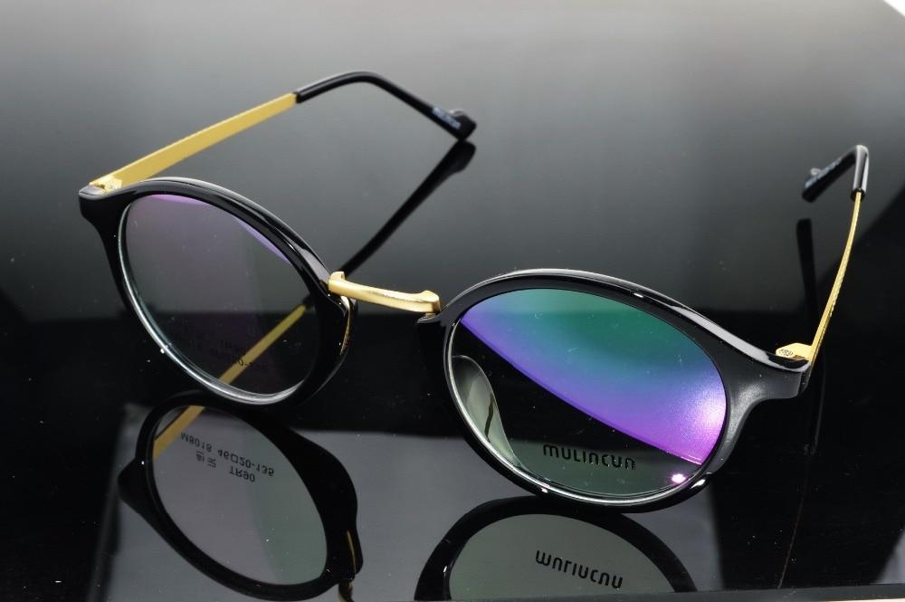 Retro rodada óculos de Armação de Acetato Preto Moda Feminina Avançada  custom made Photochrmic Prescrição óculos de miopia-1 a-6 176baaeafc