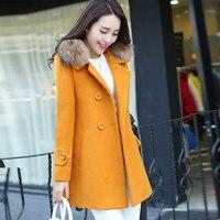 Women coat winter fur caot 2018 Korean Slim woolen coats casual autumn jacket fur coats Female woolen coat S M L XL XXL 3XL
