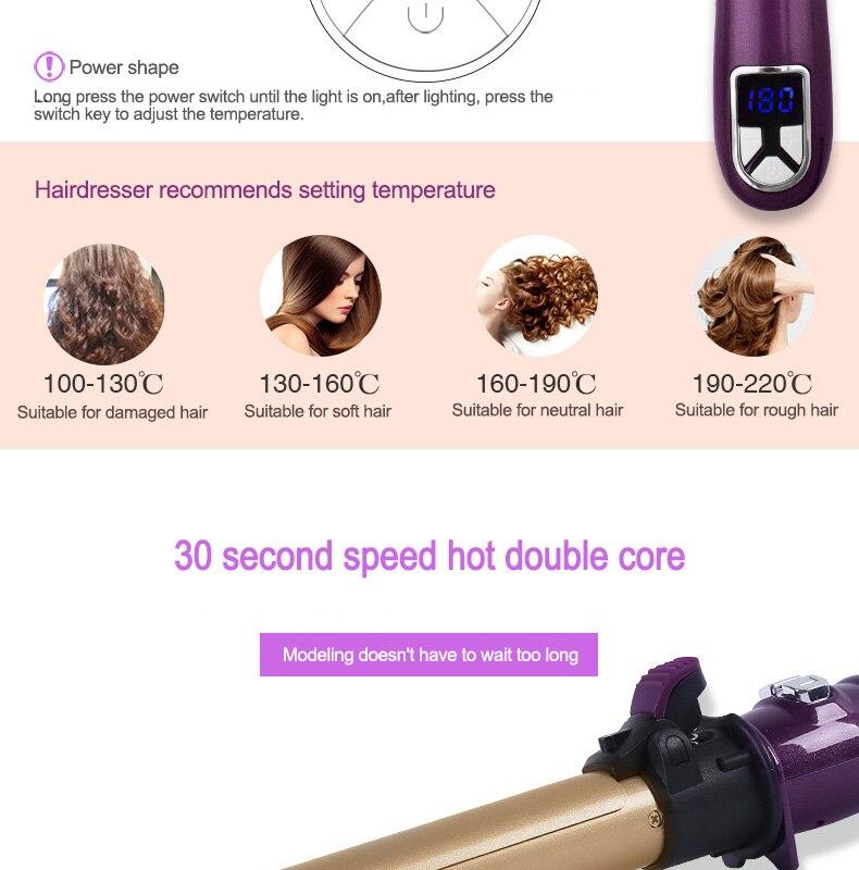 do cabelo com cliper longo 25 mm