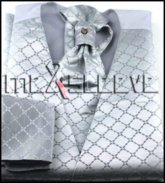 Wholesale Men's Suit Tuxedo Dress Vest and ascot tie Set NEW