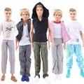 Escolher aleatoriamente 5 Conjuntos Homens Casaco Quadriculado Roupa Casual Wear Terno esporte Roupas Para O Amigo Ken Babie Boneca Presente Para atacado