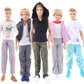 Randomly Pick 5 Sets Men Outfit Houndstooth Coat Casual Wear Sport Suit Clothes For Babie Friend Ken Doll Gift For Wholesale