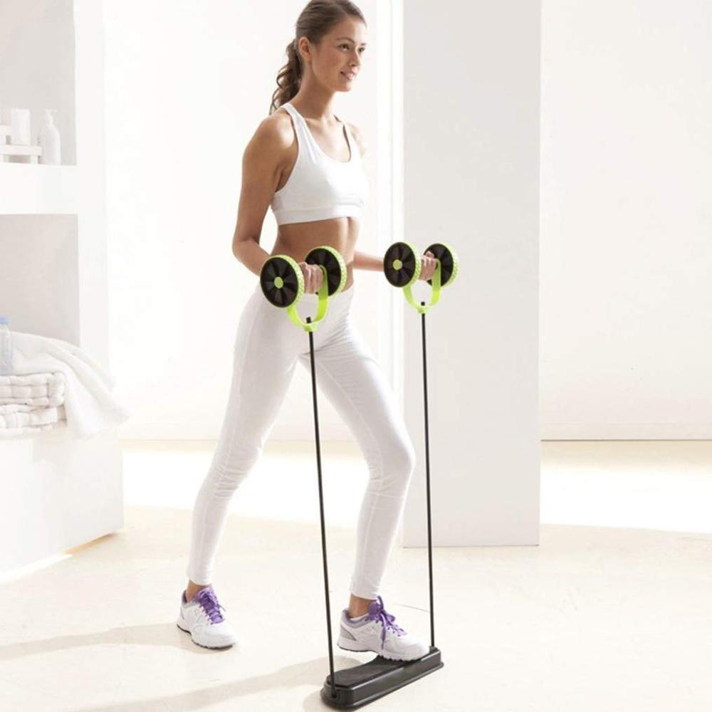 Roues rouleau équipement de gymnastique appareil d'entraînement corde de traction abdominale exercice de Fitness cordes de traction extensibles roue abdominale