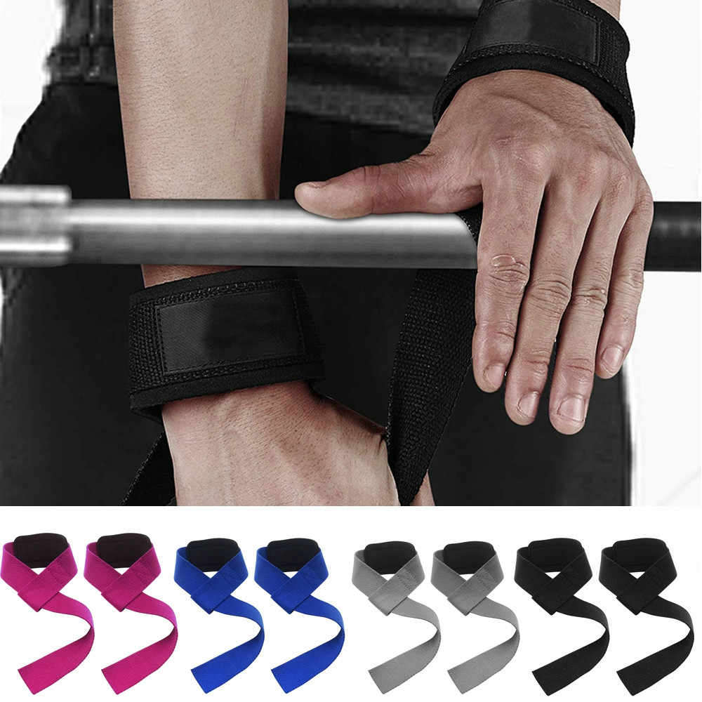 1 para siłownia pasy do podnoszenia podnoszenie ciężarów na rękę pas balastowy kulturystyka rękawice dla kobiet mężczyzn fitness sztanga crossfit moc trasy w