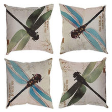 Hot Sell 2 Colors Dragonfly Bed Home Pillow Case Cushion Case Home Textiles Accessories drop Shipping(China)