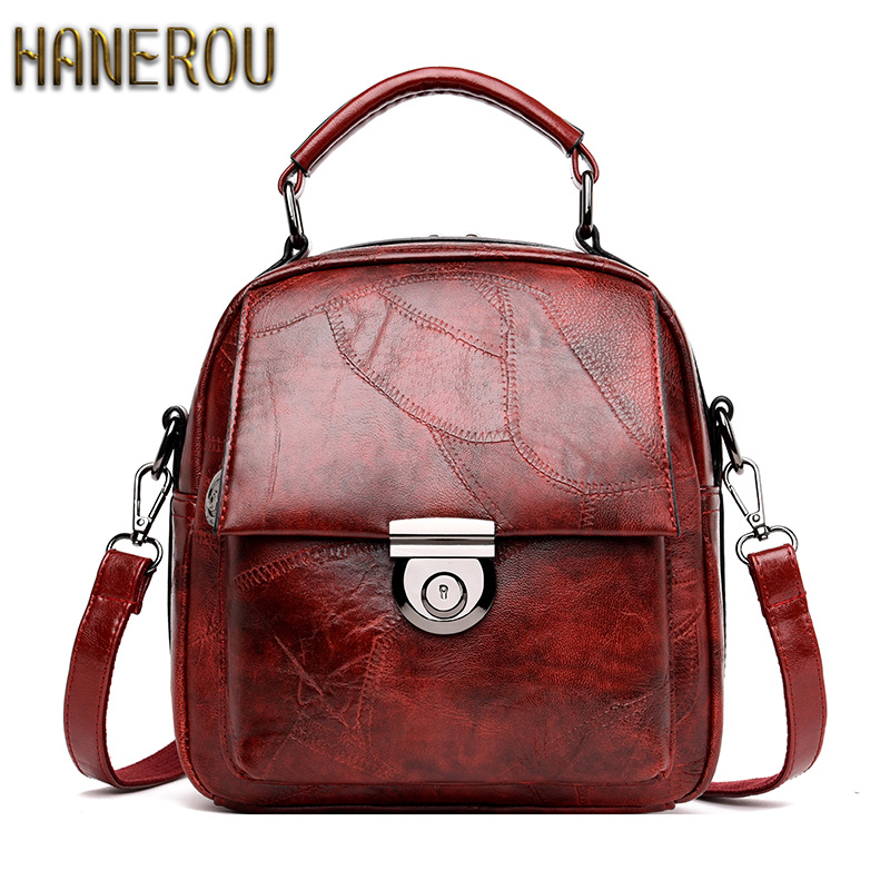 Backpack Women Genuine Leather New Fashion Mochila Feminina 2018Autumn Sac A Dos Vintage Backpack Woman Theft School Bags Casual luyo brand crocodile alligator genuine leather female fashion vintage cool backpack mochila feminina sac a dos womens youth