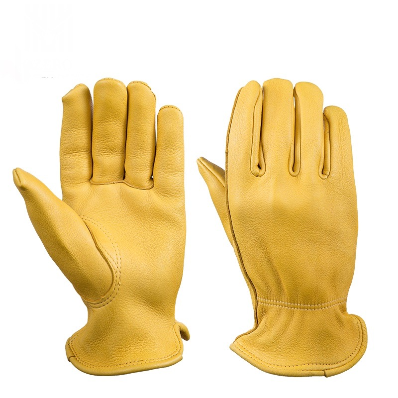 New  Motorcycle retro Top Grain Deerskin Elkskin Gloves  scooter  glove Cafe Bobber Glove Work glove with Thinsulate Lining