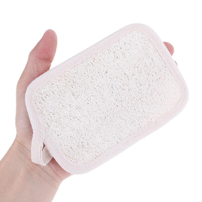 1Pcs Natural Loofah Sponge  Bath Shower Gloves Exfoliating Wash Skin Spa Massage Scrub Washing Soft Pad
