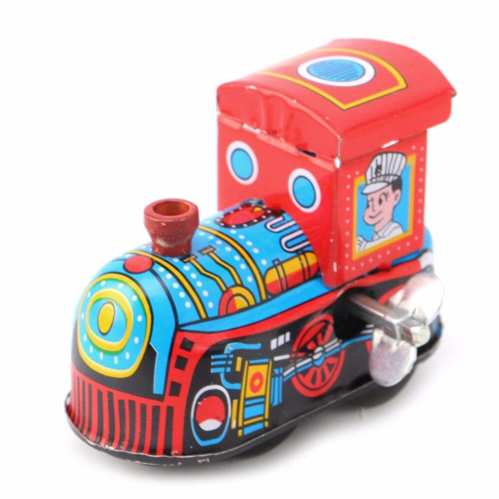 Rétro Train à vapeur réminiscence enfants Vintage étain jouet horloge jouets cadeau