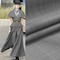 150CM Wide 300G M Spring And Autumn Winter Gray Wool Polyester Fabric For Jacket Coat Suit