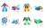 O Envio gratuito de 4 pçs/set Bots Resgate Robô Deformação Bumblebee/Optimus/Bulldozer/Helicóptero Transformação Robôs de brinquedo