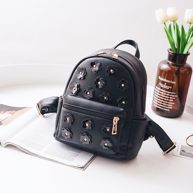 Women Flower Mini Backpack