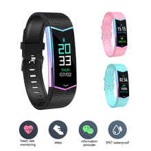 LV08 Smart Bracelet Fitness Tracker Step Heart Rate Blood Pressure Measurement Multi-Sports Mode Data Monitoring Sleep Monitor